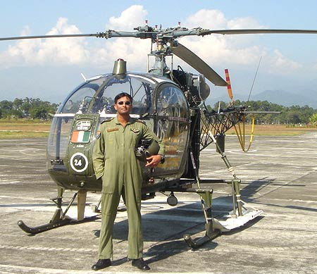 Flying instructor Lieutenant Colonel (retd) Gourav Ray, an ISB alumni