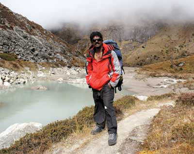 Malli Mastan Babu at the Mera La pass in Nepal