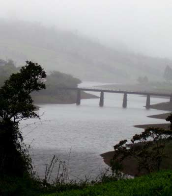 Bridge across a river, Meghamalai
