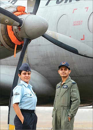Squadron Leader Asha Vashisht and Flying Officer Nitin Raj say the Air Force is full of thrill