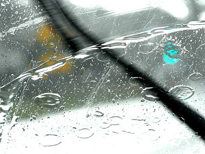 If the rubber on the wipers seems hard to touch or appears cracked, change the blades immediately.