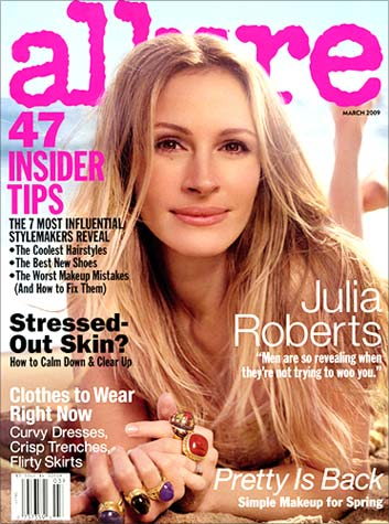 Julia Roberts on the cover of Allure magazine