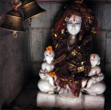The devi is said to have protected the temple from floods