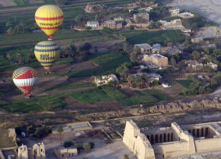 The mesmeric view from a hot air balloon