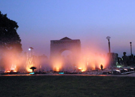 The cool spray of the musical fountain is a treat.