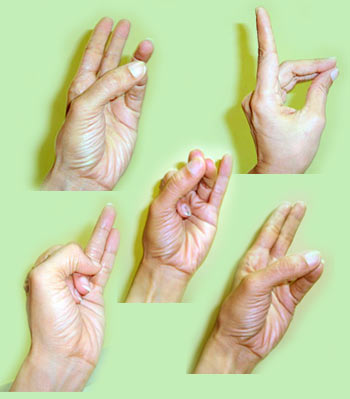 The hands play a dominant role in the brain map, and mudras exploit that.
