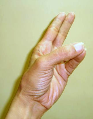 Kapha kaarak mudra (Promoting earth element hand gesture)