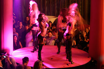 Members of the Pussycat Dolls perform in inside Caesars Palace Hotel-Casino in Las Vegas.