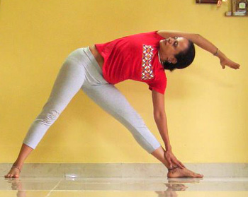 Parivritti konasana (Twisted angle pose)