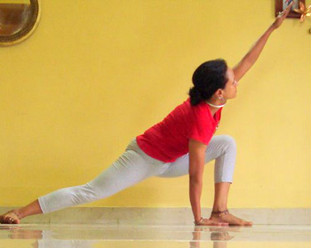 Parsva konasana (Side-stretch pose)