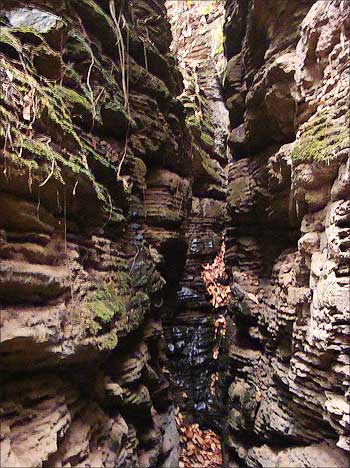 The Kutumsar Caves are located in the Kanger Valley National Park