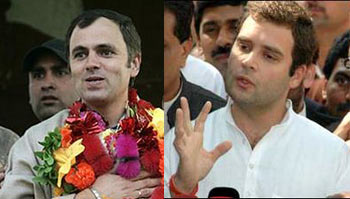 Omar Abdullah and Rahul Gandhi