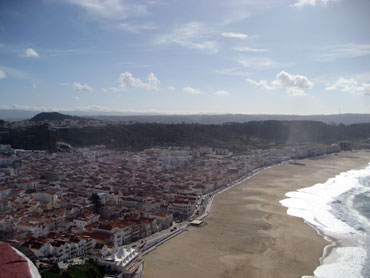 Nazare, a picturesque seaside town