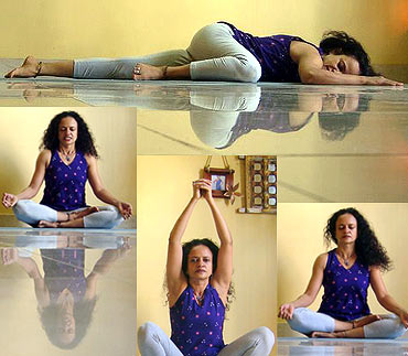 Yogic postures for pregnant women