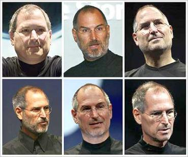 Apple Inc's CEO Steve Jobs is shown in this combination photo of file photographs dating from July 2000 to September 2008.