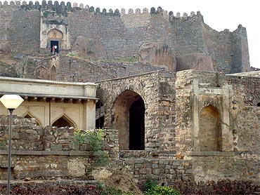 The 400-year-old Golconda Fort is located about 11 km from Hyderabad city