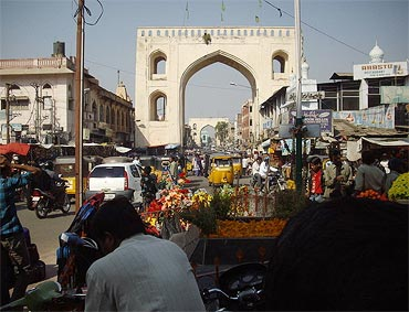 The market area near the Charminar
