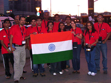 The Indian contingent at the Imagine Cup finals in Warsaw, Poland