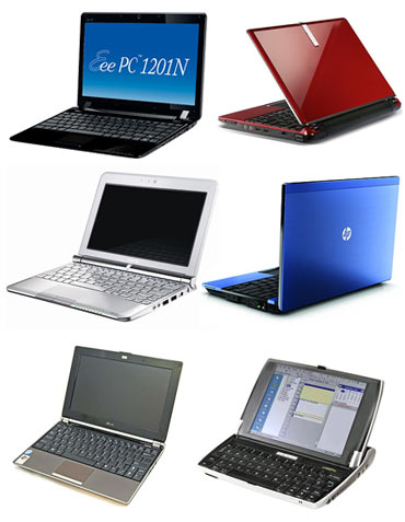 Collage of netbooks