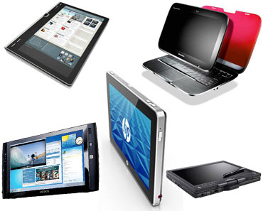 Collage of Tablet PCs