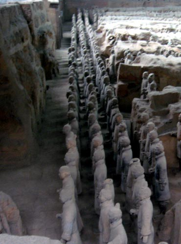 The Terracotta Army complex in Xi'an