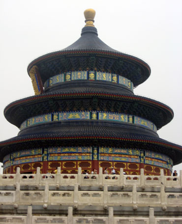 The Temple of Heaven was built in 1420 AD during the Ming Dynasty to offer sacrifice to Heaven.