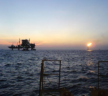 Mumbai High, the offshore oilfield 160 km off the Mumbai coast