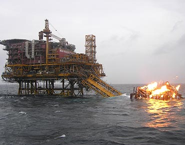 Fires at oil rigs are just one of the dangers divers have to contend with