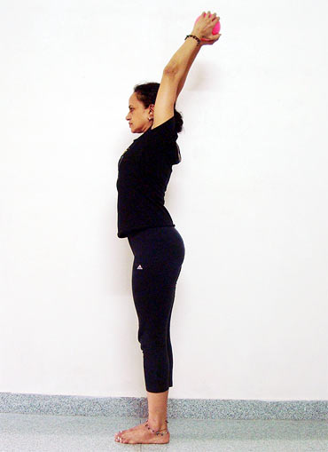 This variation of the Tadasana cures fatigue and lethargy
