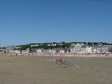 The beach at Trouville sur Mer