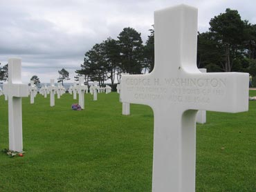 Endless rows of graves at the Normandy American Cemetery and Memorial.