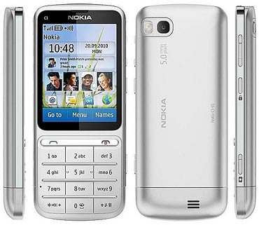 Nokia C3-01 Touch and Type messaging phone