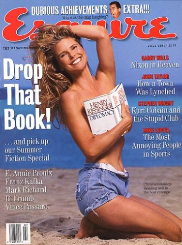 Christie on the cover of Esquire Magazine, at the age of 40