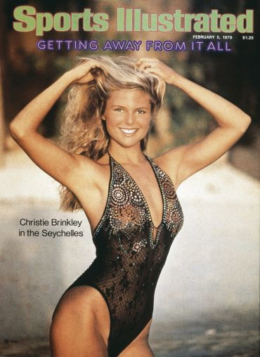 Christie's first-ever Sports Illustrated Swimsuit Issue cover at age 25