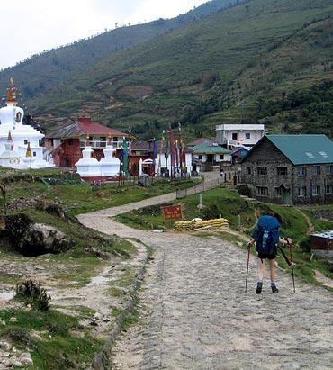 Meghma village, a small hamlet inside the Singalila National Park, Darjeeling.