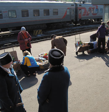 Taking the Trans-Siberian Railway from China to Ukraine.