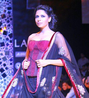 A corset choli by Manish Malhotra