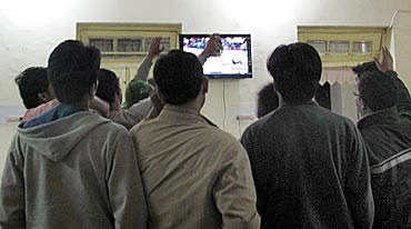 Cheering time at IIM Ranchi's night canteen.