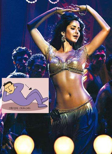 Oblique crunches will help you shrink your waistline like Katrina Kaif did recently