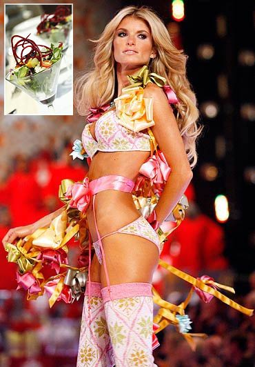 Victoria's Secret Angel Marisa Miller fequently lunches on salads to maintain her fab figure