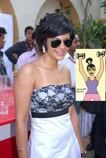 Go strapless like Mandira after overhead shoulder presses
