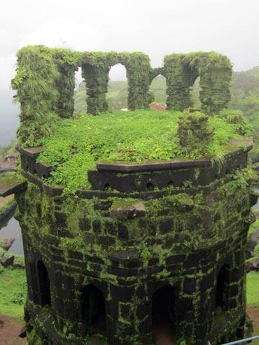 Grand ruins and greenery