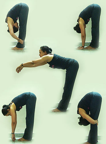 Uttanasana: the soothing forward bend