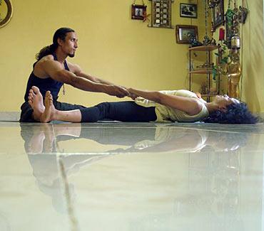 Upavista Konasana (Wide spread angle pose)