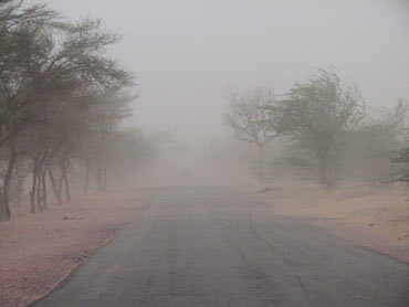 Sand storm in Rajasthan