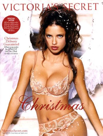 Adriana Lima on the cover of Victoria's Secrets catalogue