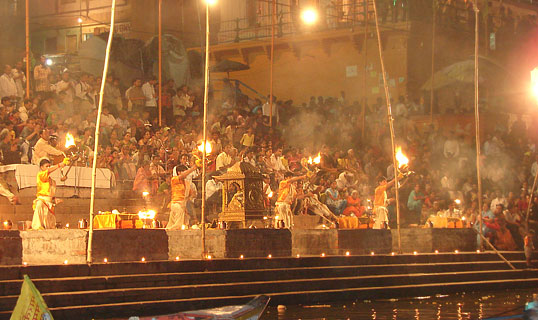 Pujas, aartis are performed along river banks in Varanasi, Haridwar etc to celebrate Ganga Dusshera.