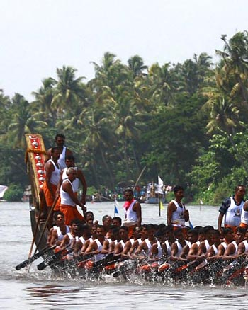 The Nehru Trophy Boat Race is the most competitive and popular boat race in Kerala.