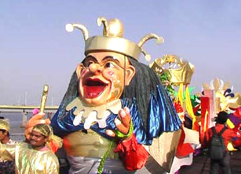 Fancy dress balls, floats, parades etc mark the celebrations at the Goa Carnival.