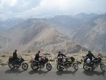 Sujay Ray heads out of Delhi on his bike as often as he can. Here is his group during their Lahaul and Spiti trip
